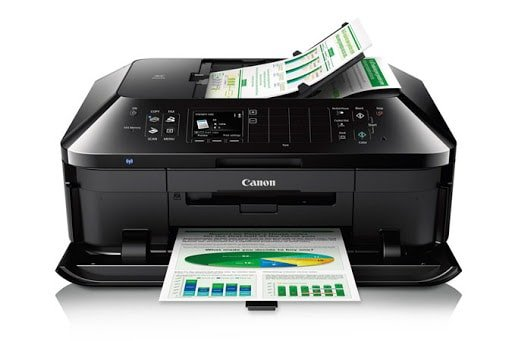Critics and users alike praise the Canon PIXMA MX922 inkjet for its cost per page value.