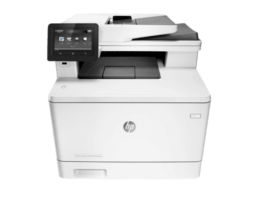 The HP Color LaserJet Pro MFP M477fdw is a dependable laser workhorse that operates at a reasonable printing cost.